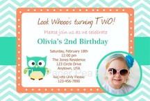 Birthday Invitations / by The Paper Giraffe Shop
