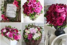 結婚式 テーブルコーディネイト 赤 ピンク