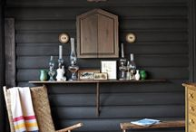 NC Log Cabin / ideas for parents' log cabin in NC / by Shelley Blackburn