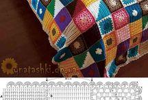 Horgolt párna takaró