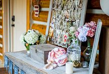 "Farmhouse Elegance / Vignette #2: 8 by 42"" rectangle and 4 by 36"" rectangle, popcorn station, wood accents"