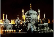 The Glow Project - Royal Brighton Pavilion / THE BRIGHTON PAVILLION / NOV 2003 / For the first time ever and for one unique evening,  the hidden secrets of The Royal Pavilion were revealed and projected onto the exterior walls for all of Brighton to experience.  Nathalie was given access and began to create a visual narrative collected from the unseen walls, objects, photos that the building had never revealed to the public before. http://www.nathalievin.com/thebrightonpavillion