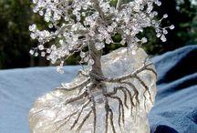 kristal ağaçlar