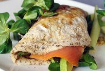 Lunch / Eiwrap met zalm en avocado