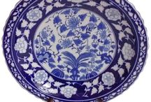Blue and White Plates / Regular and Charger Plates with blue and white color combination design.