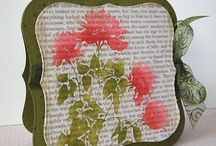 "Stamp:Silhouette Meadow Flowers / These handmade cards feature the negative stamp ""Silhouette Meadow Flowers"" by Hero Arts (K5340)."