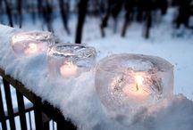 Inspiration : décorations d'hiver / Quelques idées déco pour les mariages d'hiver...