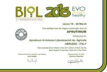 PREMI / I premi presi dagli oli extra vergine d'oliva Aprutinum