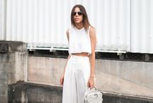 All White Everything / When it comes to white, we can't get enough.  These are our favorite all-white fashion looks and inspo