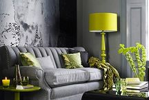 Lime and grey room