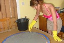 Making a mosiac table