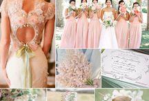 Pretty Floral Wedding / Classic British floral wedding, dusky pinks, lovely lace, pretty pretty pretty.