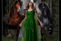 Epona / Celtic Goddess of horses-- inspiration for Sadie.
