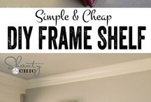 Diy frame shelbes