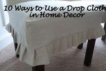 Drop Cloth ideas for Home Decor