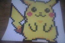 ♥ Pixel Pikachu ♥          Je me lance dans les Pixels !
