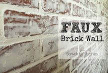 BRICK WALL (FAUX)