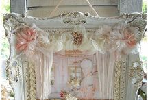 Shabby chic photo frames