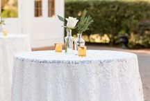 Weddings: Reception / Wedding reception details including table setup, centerpieces, escort cards and table numbers.