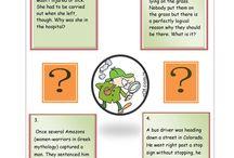 English Mind puzzles