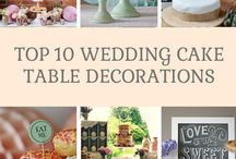  wedding cake table decorations  