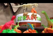 Dinosaurs Birthday Party  / What a Amazing party! I love the brown, orange and green color scheme we used in it. I also love the banner. This Dinosaurs party has so many great ideas  that any little boy who loves dinosaurs will enjoy.