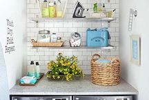 S M A L L   L A U N D R Y  R O O M S / City living: small, organized and efficient = laundry room.