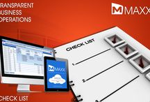Check list / Check list is the way of displaying all the transaction entries in a single screen... http://maxxerp.blogspot.in/2013/10/maxx-transparent-business-operations.html