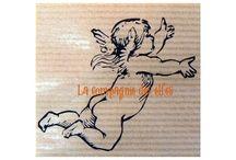 scrap tampon ange / les tampons anges pour le scrap