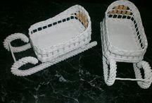 pletení peddig, papírové