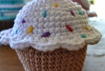 Crochet toys and sweets