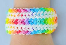 Rainbow loom / Just so cute I have tried all of these but not the snake belly and x's and o's