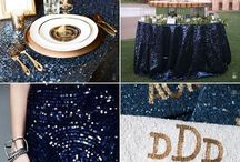 Navy Blue & Gold Wedding