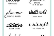 Fonts / Pretty and Fun Fonts, perfect for your crafting or digital scrapbooking projects.