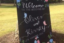 Wedding Chalkboards / Bespoke Wedding Chalkboard and Signs custom made to suit your wedding needs