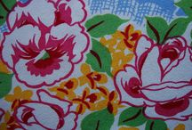 Colorful Vintage Tablecloths / by Sandy McClay