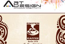 Samples of our work in EINSTEIN KAFFEE / This Works and Designs have been implemented by Art Design Company