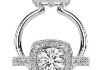 Engagement Rings: Halo Setting / Engagement rings with a halo setting.   Looking to get engaged?  Visit Radcliffe Jewelers in Baltimore, MD.