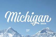 Michigan Brush Font Download