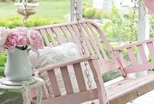 Porch & Patio / Outdoor spaces of the home that give a warm welcome & cozy atmosphere. Linens, pillows, porch swings & more!
