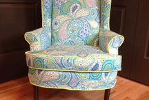 Made in My Craftsy Class / Student projects from my Craftsy Classes Wingback Slipcovering: www.craftsy.com/ext/CherieKillilea_4896_F Dining and Arm Chair Covers www.craftsy.com/ext/CherieKillilea_4243_F / by Cherie Killilea