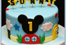1st birthday cake for Dhiyaan