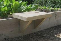 raised veggie garden seat