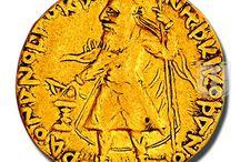Kushan Dynasty - Coins of  Kanisha I / Collection of coins of Kanisha I of Kushan Dynasty