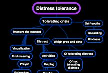 DBT 1. Distress tolerance skills 1: TIP, ACCEPTS, self soothing, IMPROVE, pros and cons