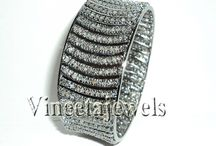.925 Silver Diamond Bangle