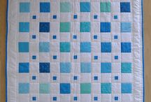 Baby boy blue and bright quilts!