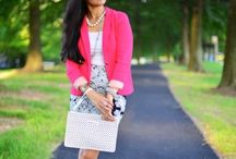 Raspberry-red-blazer-&-lace-print-skirt / I have always enjoyed dressing up for work and I love the combination of dark and bright colors. http://zunera-serena.com/rasberry-red-blazer-with-lace-print-skirt/