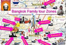 Bangkok tour zones / Your zones in and around Bangkok Thailand