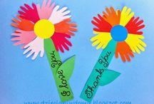 květiny/flowers crafts and printables for preschooler